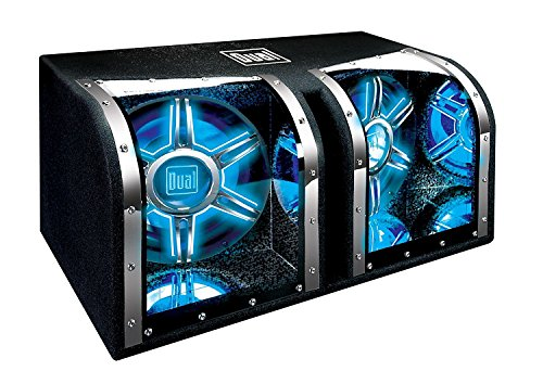 Dual Electronics BP1204 12 inch illumiNITE High Performance Studio Enclosed Car Subwoofers with 1,100 Watts of Peak Power