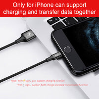 Baseus USB Cable For iPhone X 8 7 6 5 5s se 3 in 1 Charging Charger Cable Micro USB Cable Type-c Type C Cable Adapter Wire Cord