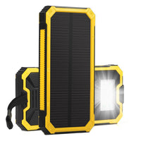 Universal Solar Power Bank kit 20000mah External Battery Charger For Mobile Phone with LED Emergency lights