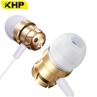 KHP Stereo In-Ear Earphone For Phone 3.5mm Wired Headphone Hedset Game Earphone Hedset With Mic Earbuds Smartphone Earphones