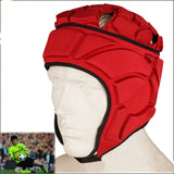 Profession Rugby Helmet Sports Rugby Scrum Cap Head guard Goalie Roller Hat Fiber Head Protector