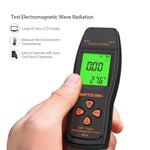 Meterk EMF Meter Handheld Mini Digital LCD EMF Detector Electromagnetic Field Radiation Tester Dosimeter Tester Counter