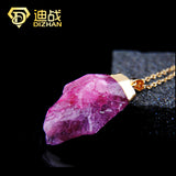 New Arrival Charms Purple Crystal stone statement Necklaces Radiation Protection Natural Stone necklaces for women Jewelry