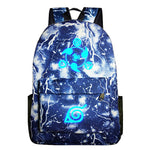 Naruto Luminous Japan Anime Backpack Thunder Blue