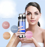 Portable Hydrogen Generator Ionizer For Pure H2 Rich Hydrogen Water Bottle Electrolysis Hidrogen Healthy Anti-Aging Cup 350ML