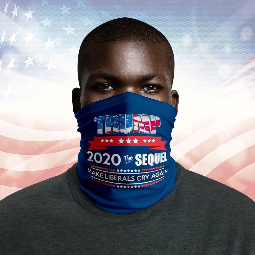 Trump 2020 The Sequel Us Flag Neck Gaiter