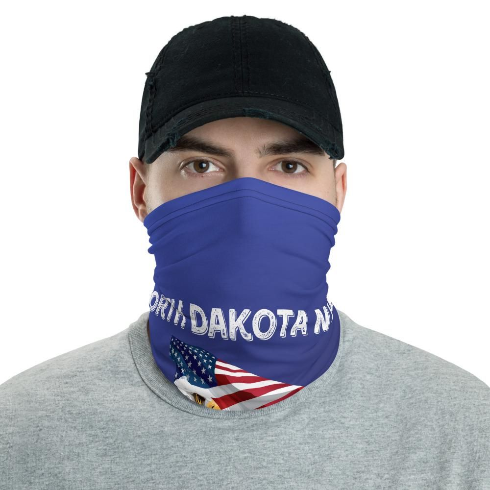 North Dakota Needs Trump 2020 American Flag With Eagle Neck Gaiter