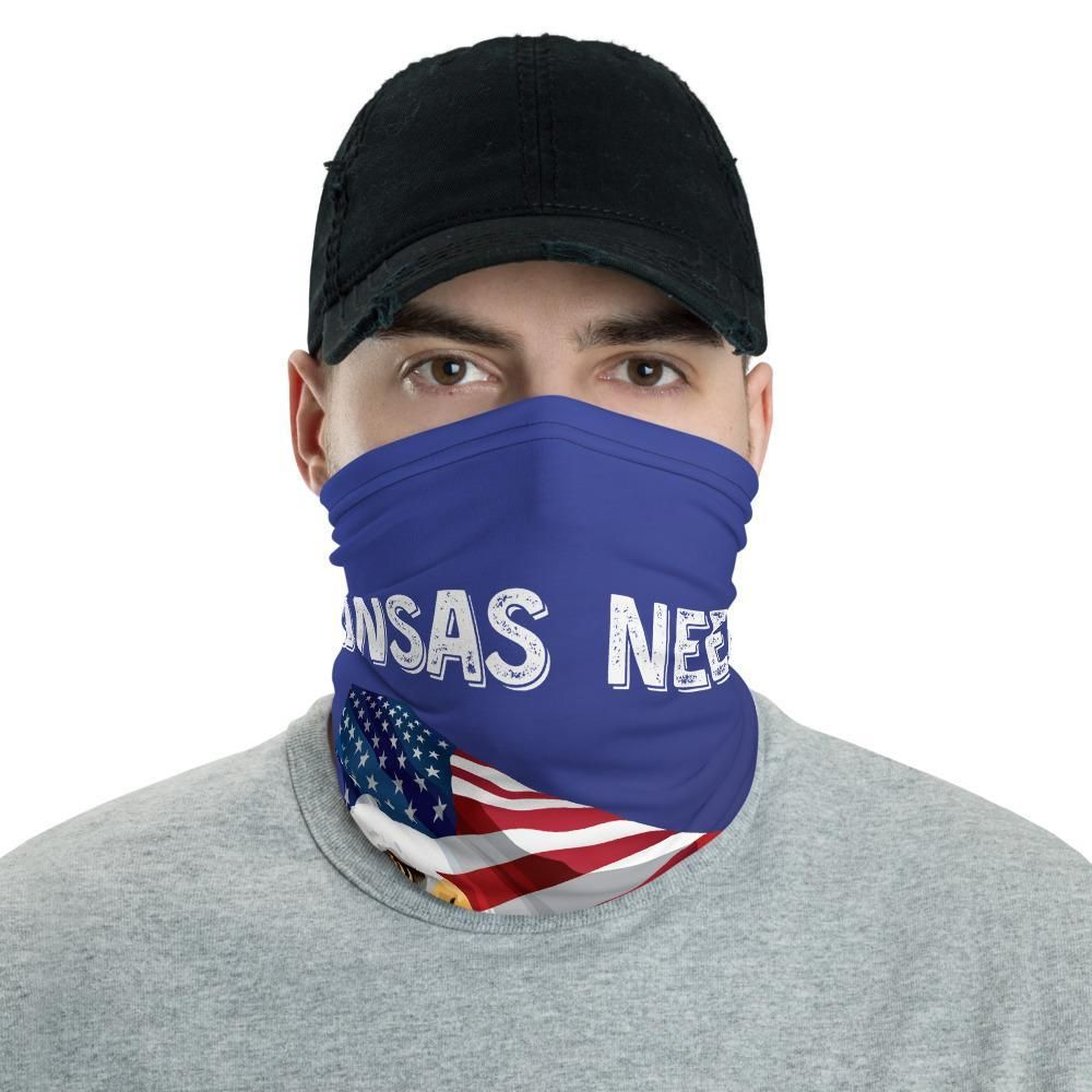 Kansas Needs Trump 2020 American Flag With Eagle Neck Gaiter
