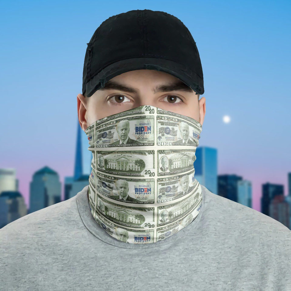 Joe Biden Twenty-twenty Biden Election Dollar Funny Neck Gaiter