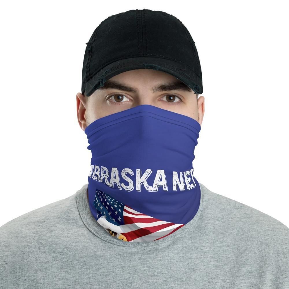 Nebraska Needs Trump 2020 American Flag With Eagle Neck Gaiter