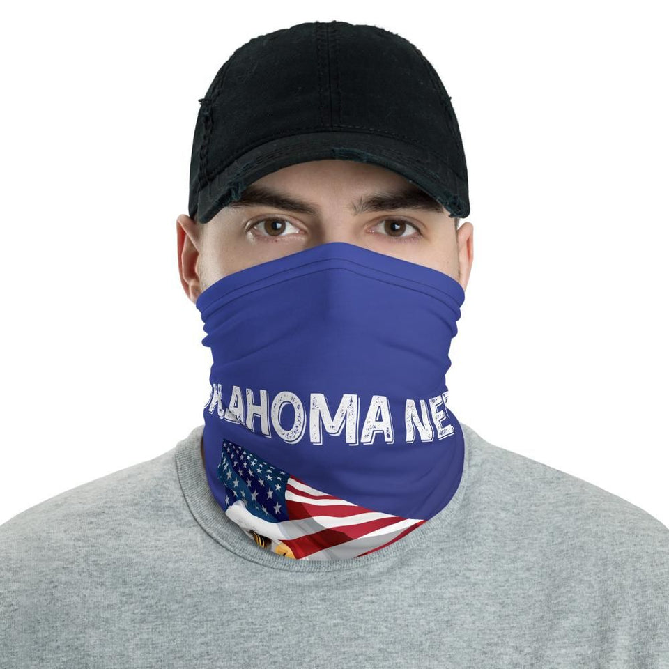 Oklahoma Needs Trump 2020 American Flag With Eagle Neck Gaiter