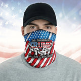 Trump Law Order 2nd Amendment Guns American Flag 2020 Neck Gaiter