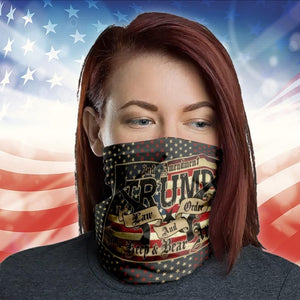 Trump Law And Order 2nd Amendment Guns American Flag 2020 Neck Gaiter