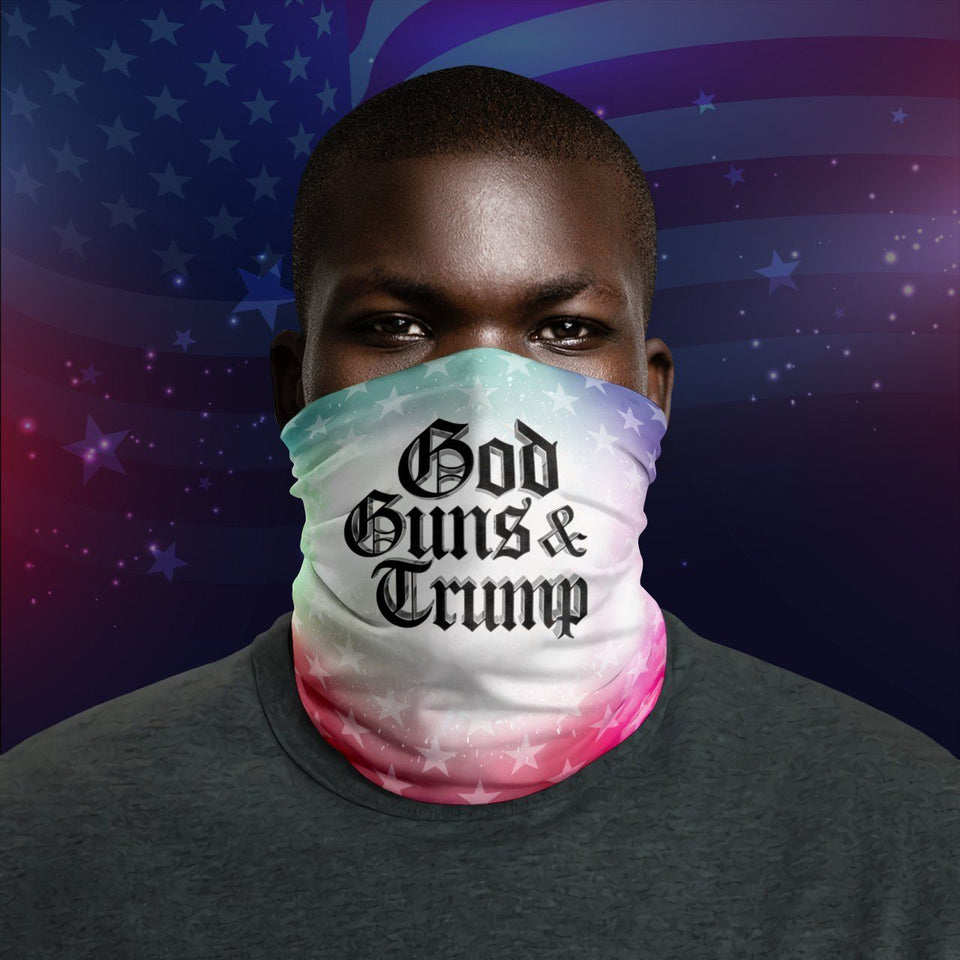 God Guns Trump President Republican Us 2020 Election Neck Gaiter