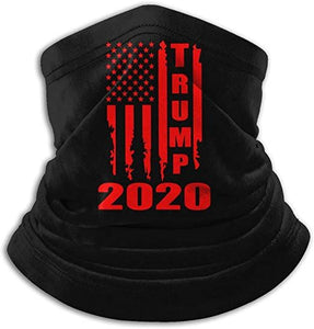 Unisex Support Trump 2020 America Flag Neck Gaiter