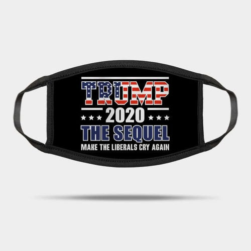 Trump 2020 Make Liberals Cry Again Reusable Washable Cloth Mask