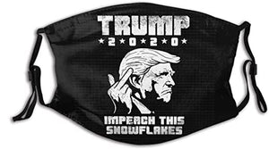 Trump 2020 Impeach This Snowlakes Reusable Washable Cloth Mask