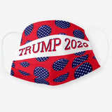 Trump 2020 Red Background Stars Washable Cloth Mask