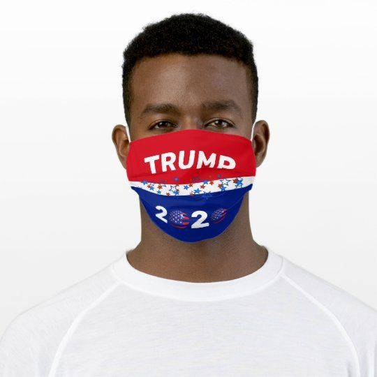 Trump 2020 Stripes With Stars Washable Cloth Mask