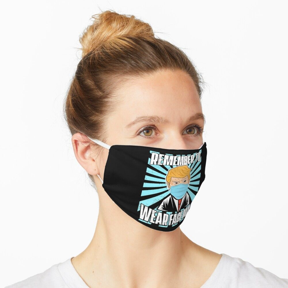 Trump Remember To Wear Face Mask Background Washable Cloth Mask