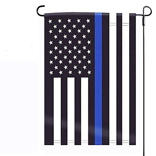 American Police Blue Line Lives Honoring Law Enforcement Garden House Flags | Double Sided Decorative Yard Flag For Spring Summer Fall Winter