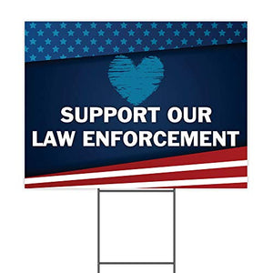 "Support Our Law Enforcement 24""x18"" Decorative Campaign House Garden Yard Signs 