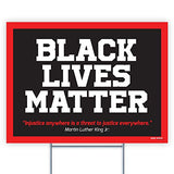 "Black Lives Matter BLM 24""x18"" Decorative Campaign House Garden Yard Signs 