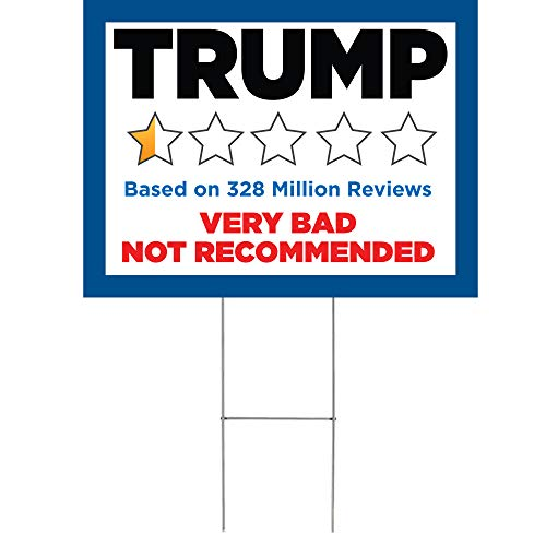 "Anti Trump Bad Review Joe Biden 2020 for President 24""x18"" Decorative Campaign House Garden Yard Signs 