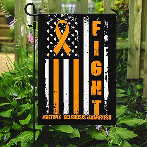 Multiple Sclerosis Awareness Garden Flags | House Flags | Double Sided Decorative Yard Flag For Spring Summer Fall Winter