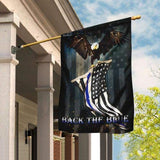 Back The Blue Police USA American Garden Flags | House Flags | Double Sided Decorative Yard Flag For Spring Summer Fall Winter