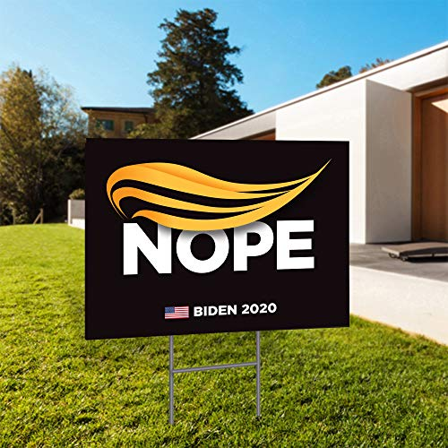 "Anti Donald Trump Nope Joe Biden for President 2020 24""x18"" Decorative Campaign House Garden Yard Signs 
