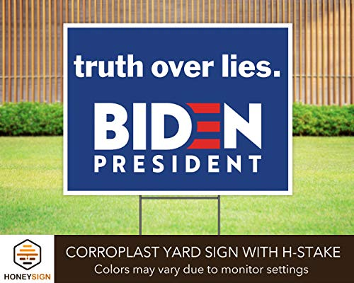 "Truth Over Lies Joe Biden for President 2020 24""x18"" Decorative Campaign House Garden Yard Signs 