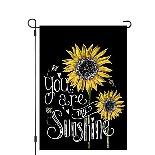 Sunflower You are My Sunshine Garden Flags | House Flags | Double Sided Decorative Yard Flag For Spring Summer Fall Winter