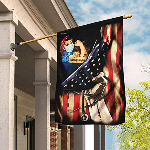 Proud Respiratory Therapists Garden Flags | House Flags | Double Sided Decorative Yard Flag For Spring Summer Fall Winter