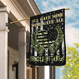 Female Veteran All Gave Some Some Gave All Garden Flags | House Flags | Double Sided Decorative Yard Flag For Spring Summer Fall Winter