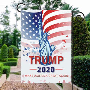 Donald Trump 2020 Make America Great Again Garden Flags | House Flags | Double Sided Decorative Yard Flag For Spring Summer Fall Winter