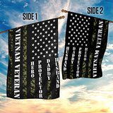 Vietnam Veteran Husband Daddy Protector Hero Garden Flags | House Flags | Double Sided Decorative Yard Flag For Spring Summer Fall Winter
