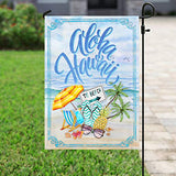 Aloha Hawaii Garden Flags | House Flags | Double Sided Decorative Yard Flag For Spring Summer Fall Winter