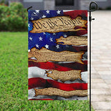 We The People American US Garden Flags | House Flags | Double Sided Decorative Yard Flag For Spring Summer Fall Winter