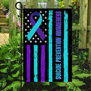 Suicide Prevention Awareness Garden Flags | House Flags | Double Sided Decorative Yard Flag For Spring Summer Fall Winter
