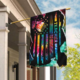 Proud Teacher Tie Dye Garden Flags | House Flags | Double Sided Decorative Yard Flag For Spring Summer Fall Winter