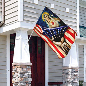 Immaculate Heart of Mary Garden Flags | House Flags | Double Sided Decorative Yard Flag For Spring Summer Fall Winter