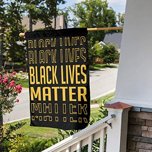 USA Made Black Lives Matter I Cant Breathe BLM Garden Flags | House Flags | Double Sided Decorative Yard Flag For Spring Summer Fall Winter