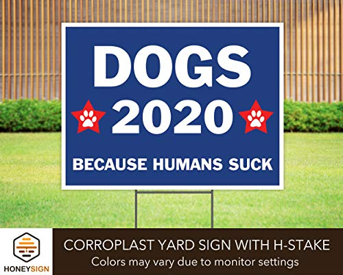 "Dogs 2020 Political Election 24""x18"" Decorative Campaign House Garden Yard Signs 