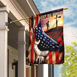 Veteran Poppy Memorial Day Lest We Forget Garden Flags | House Flags | Double Sided Decorative Yard Flag For Spring Summer Fall Winter