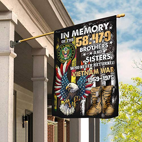 Vietnam Veterans Memorial Garden Flags | House Flags | Double Sided Decorative Yard Flag For Spring Summer Fall Winter