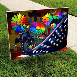"Choose Kind Autism American 24""x18"" Decorative Campaign House Garden Yard Signs 