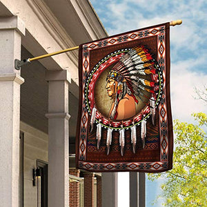 Native American Garden Flags | House Flags | Double Sided Decorative Yard Flag For Spring Summer Fall Winter
