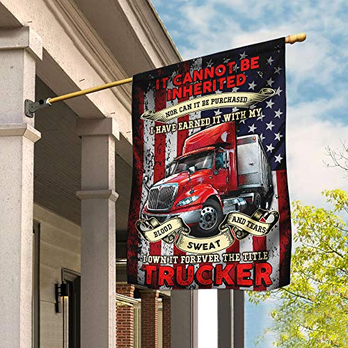 I Own It Forever The Title Trucker Garden Flags | House Flags | Double Sided Decorative Yard Flag For Spring Summer Fall Winter
