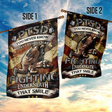 PTSD Veteran Garden Flags | House Flags | Double Sided Decorative Yard Flag For Spring Summer Fall Winter